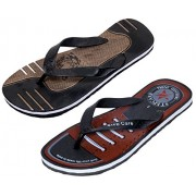 Indistar Men Step Care Comfortable Flip Flop House Slipper And Hawaai Chappal (Pack Of 2 Pairs)-Assorted_Multiple color_Size-9