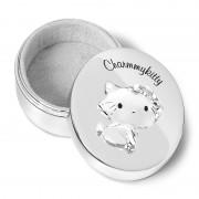 Cutiuță Prima Șuviță și Primul Dințișor Argintată Hello Kitty