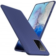 Texture TPU hoesje voor Samsung Galaxy S20 - blauw