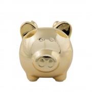 Geen Dieren spaarpot gouden varken/big met vleugels 16 cm