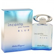 Incanto Blue For Men By Salvatore Ferragamo Eau De Toilette Spray 3.4 Oz