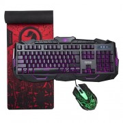 """MARVO KM400 Gaming Keyboard LED Mouse and Large Mouse pad Combo 3 Color Backlit Keyboards 7 Color 2400DPI Mice 27.6""""x8.8"""