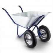 Waldbeck Heavyload ръчна количка, 120l, 320kg, градинска количка, 2 колела, стомана, син (GDI6-Heavyload-BL)