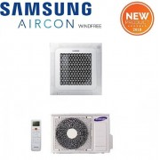 Samsung Climatizzatore Condizionatore Samsung Inverter Cassetta 4 Vie Windfree 48000 Btu Ac140nn4dkh Monofase Con Comando Wireless E Pannello Incluso - New 2018