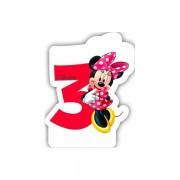 Lumanare party cifra 3 Minnie
