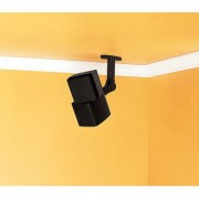 Sanus WMS3B Black Tilt Swivel Wall/Ceiling Mount Pair for Speakers up to 8 lbs.