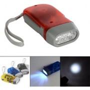 3keys 3 LED Dynamo Wind Up Flashlight Hand-pressing Crank NR No Battery Torch Hot Worldwide