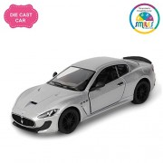 Smiles Creation 5'' 1:38 Scale Pull Back Action 2016 Maserati Granturismo Mc Straddle Car Toys, White