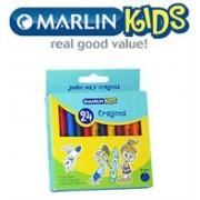 Marlin Kids Wax Crayons 8mm 24's, Retail