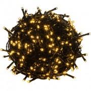 Karácsonyi LED világítás 40 m - meleg fehér 400 LED - zöld kábel