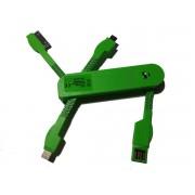 USB punja? univerzalni za mobilne zeleni