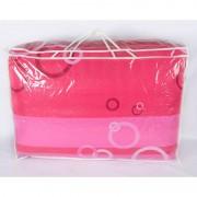 Олекотена Завивка CIRCLES pink - 100% Памук