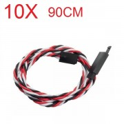 Amass 60 Core 90cm Anti-off Servo Extension Wire Cable For Futaba