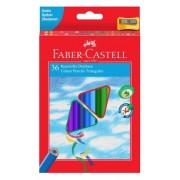 Creioane Colorate triunghiulare cu ascutitoare Eco 36 culori/set Faber-Castell