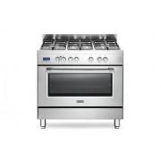 DeLonghi PRO96MX Cucina 96cm 4 Fuochi 1 Tripla Corona Forno Elettrico A Inox