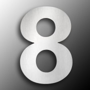 Stainless Steel House Numbers, Large 8