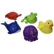 Tub Fun Tub Pals 5 Piece Set Of Floating Spongey Water Toys For Pool Or Bathtub