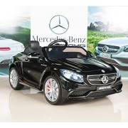 Mercedes-Benz S63 Kids 12V Electric Power Wheels Ride On Car with RC/Remote Control Radio & MP3, Black
