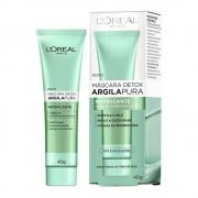 Máscara Facial Detox L'Oréal Paris Argila Pura Matificante - 40g