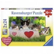 RAVENSBURGER puzzle (slagalice) - zaljubljene mace RA07801