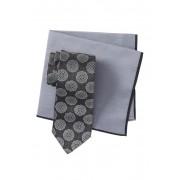 Ted Baker London Silk Melange Medallion Tie Pocket Square Set GREY