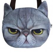 Hot Sale! New Designed Female Retro Cartoon 3D Animal Printing Shoulder Bags Cat Shape Women Handbag for Girls cat Bag,SKU 0313