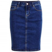 VILA Halblanger Jeans-Rock