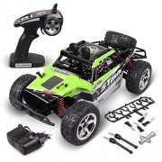 RC Car 4WD, Rolytoy 2.4GHz 1:12 Scale Radio Controlled Electric Car 30MPH+ Waterproof Offroad Remote Control Truck with LED Light Support All Terrain, Best Xmas Gift for Kids Adults