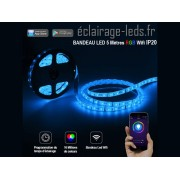 Bandeau led rgb 5m wifi ip20 12v ref bl-20
