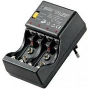Goobay Caricabatterie per NiCD e NiMh con Tester e Funzione di Scarica