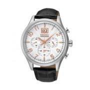 Seiko Relógio Seiko Quartz Casual Lifestyle Prateado, Preto e Branco