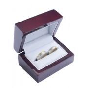 Dřevěná dárková krabička na snubní prsteny MP-3