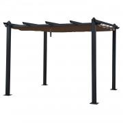 Happy Garden Pergola autoportante 3 × 3m CASSIS taupe - structure aluminium