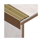 Protectie treapta Alum20 perforata bronz
