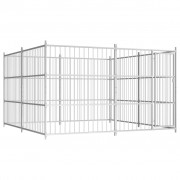 vidaXL Външна клетка за кучета, 300x300x185 см
