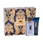 Dolce&Gabbana K set cadou apa de toaleta 100 ml + balsam dupa barbierit 75 ml pentru bărbați