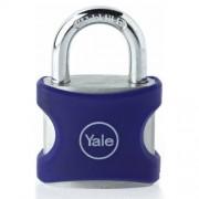 Lacat din aluminiu albastru cu cheie Yale YE3/38/119/1/BL