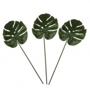 Shoppartners 3x Groene Monstera/gatenplant kunsttakken kunstplanten 70 cm