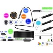 NTR ECAM25 Vízálló endoszkóp kamera 1280x720 HD 2MP 8mm átmérő 8LED USB-C/microUSB/USB 5m