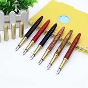 Wingsung 7250 Wooden Fountain Pen 0.5mm Extra Fine Nib For Office School Supplies Birthday Gift
