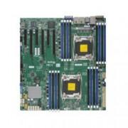 Дънна платка за сървър SuperMicro MBD-X10DRI, 2x LGA 2011, поддържа ECC LRDIMM/DDR4 SDRAM, 2x Lan1000, 10x SATA3 RAID (0,1,5,10), 2x USB 3.0, E-ATX, Retail Pack