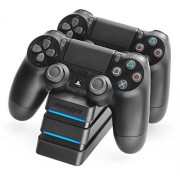 Snakebyte PS4 Twin:Charge 4 Twin Docking Station for 2 Playstation 4 Dualshock Controller / Gamepad Dual Charger