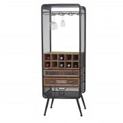Weinregal HWC-C91, Flaschenregal Barschrank Weinständer für 10 Flaschen, Tanne Holz Vintage 157x57x38cm ~ Variantenangebot