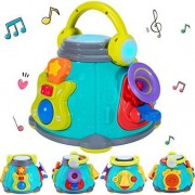 iPlay, iLearn Baby Music Activity Cube Play Center, Kids Musical Singing Sensory Toys, Lights n Sounds, Educational Rhyme Gift for 9, 12, 18 Months, 1
