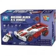 UniBlock Remote Controlled RC Building Block Compatible With Lego Bricks (Race Car- 107 Pieces)