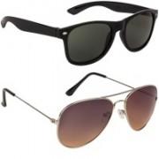 Marabous Wayfarer, Aviator Sunglasses(Green, Black, Brown)