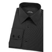 Košile SLIM černá s jemným proužkem Avantgard 115-2301-39/40/182