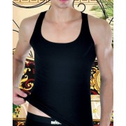 Don Moris Plain Tank Top T Shirt Black DM110425
