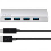 4-portni USB 3.0 hub Belkin srebrna