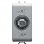 Priza TV/SAT de trecere 5dB 1 modul titan Gewiss Chorus GW14372 (GEWISS)